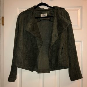 Olive green suede jacket